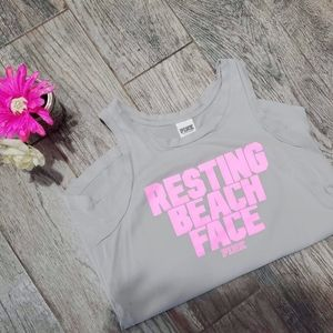 "VSPINK VGUC  Grayw pink ""resting beach face"" xs/s"